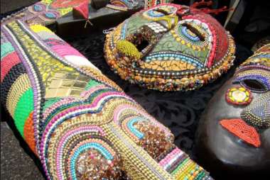 Village-Beaded Masks